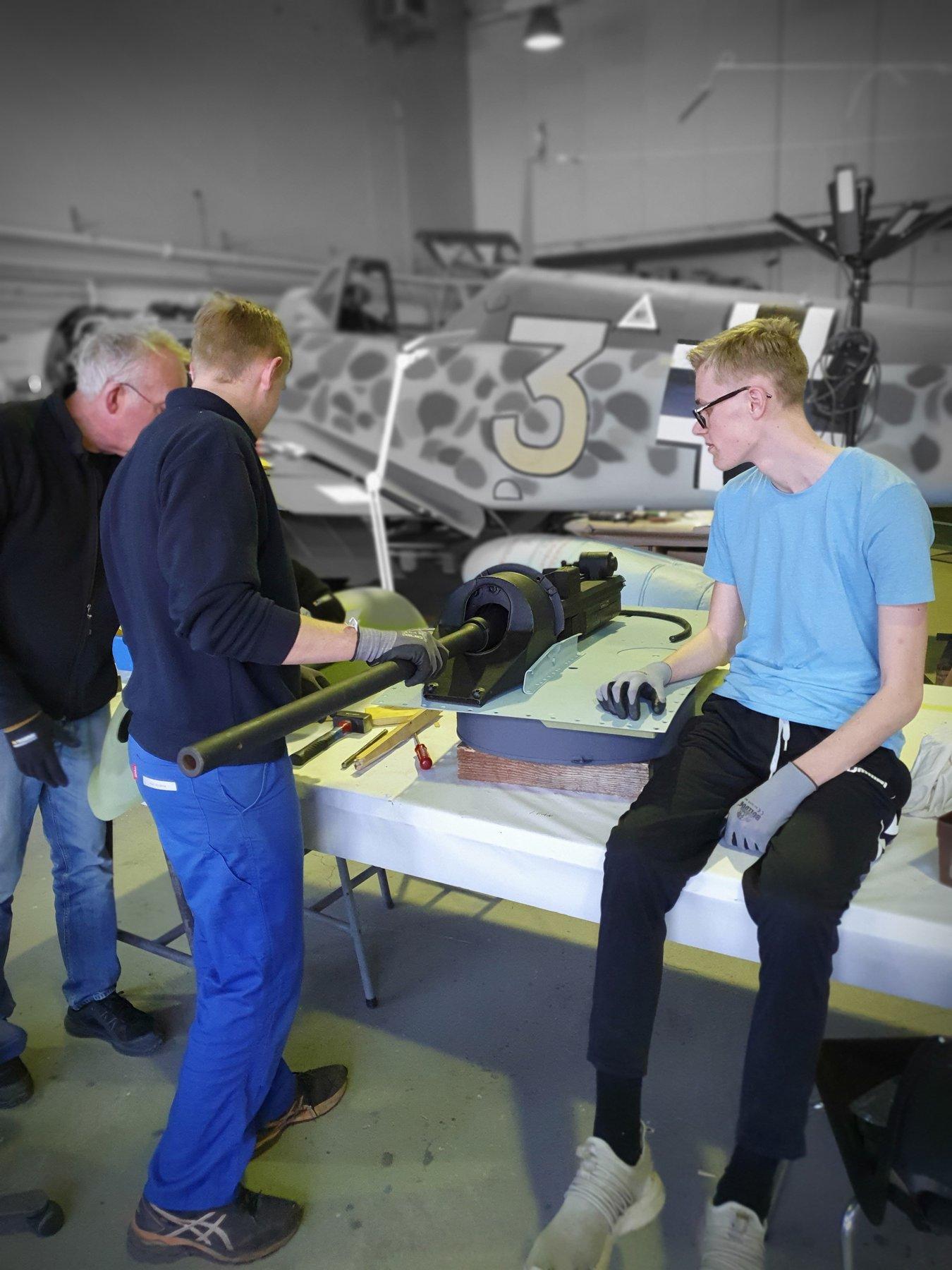 Bodø Luftfartshistoriske Forening Me 109 Oppbygging
